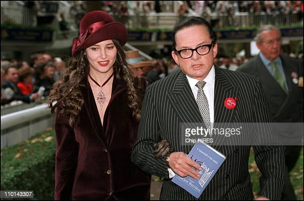 Billionaire art dealer Alec Wildenstein with his second wife Liouba attend Prix de l' Arc de triomphe the main event in the European racing season in...