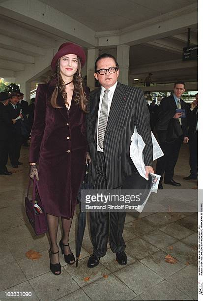 Billionaire art dealer Alec Wildenstein with his second wife Liouba at the 80th Grand Prix De L Arc De Triomphe In Paris