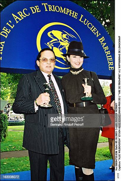 Billionaire art dealer Alec Wildenstein with his second wife Liouba 82nd Grand Prix of the Arc De Triomphe at the racecourse of Longchamp