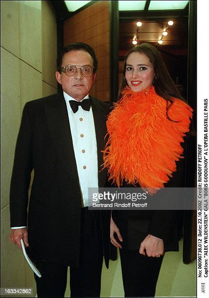 Billionaire art dealer Alec Wildenstein with his second wife Liouba at Boris Godounov Gala at the Bastille opera of Paris