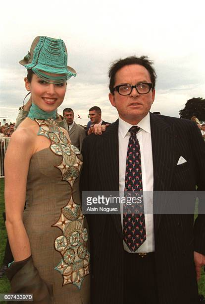 Billionaire art dealer Alec Wildenstein with his second wife Liouba at Chantilly Racecourse where Wildenstein's horse Aquarelliste won the Prix de...