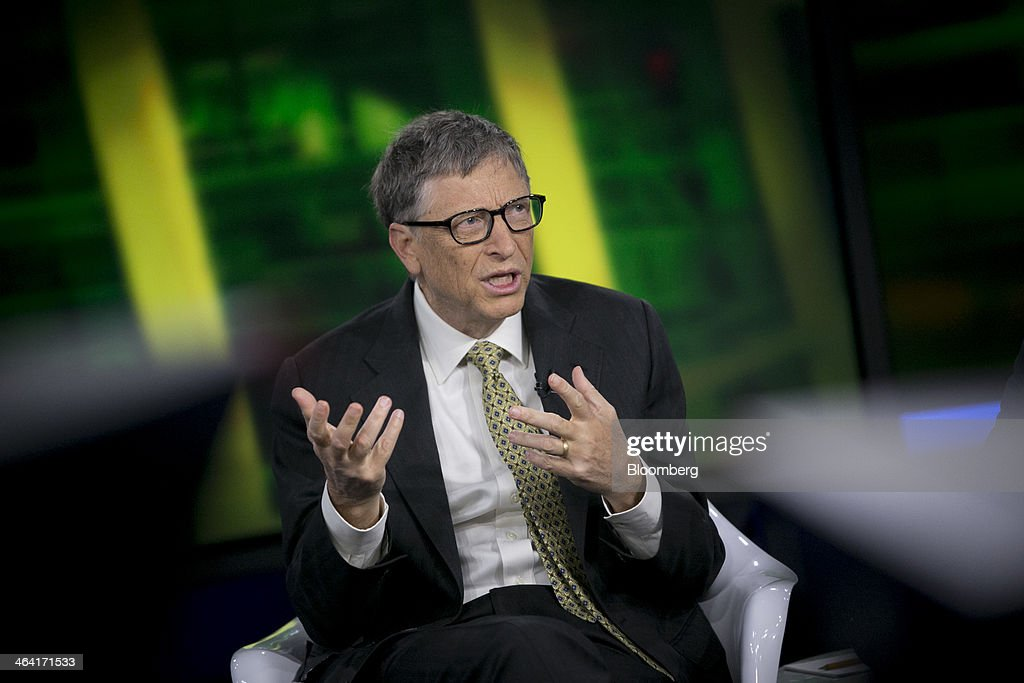Microsoft Co-Founder Bill Gates & Michael Bloomberg Interview : News Photo
