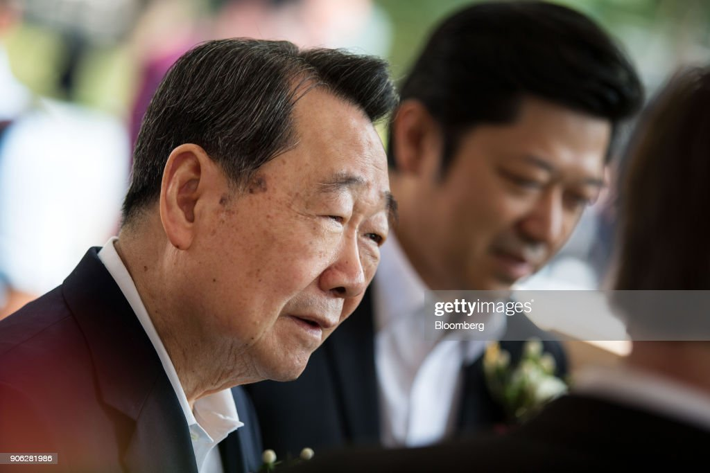 Billionaire and Charoen Pokphand Group Chairman Dhanin Chearavanont News Conference