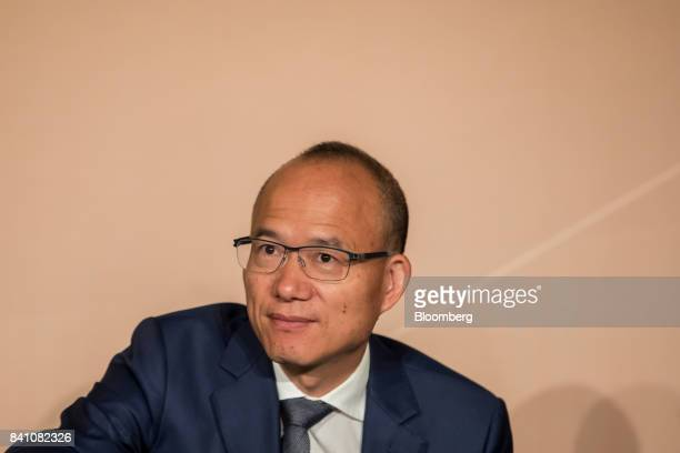 Billionaire Guo Guangchang chairman and cofounder of Fosun International Ltd attends a news conference in Hong Kong China on Thursday Aug 31 2017...