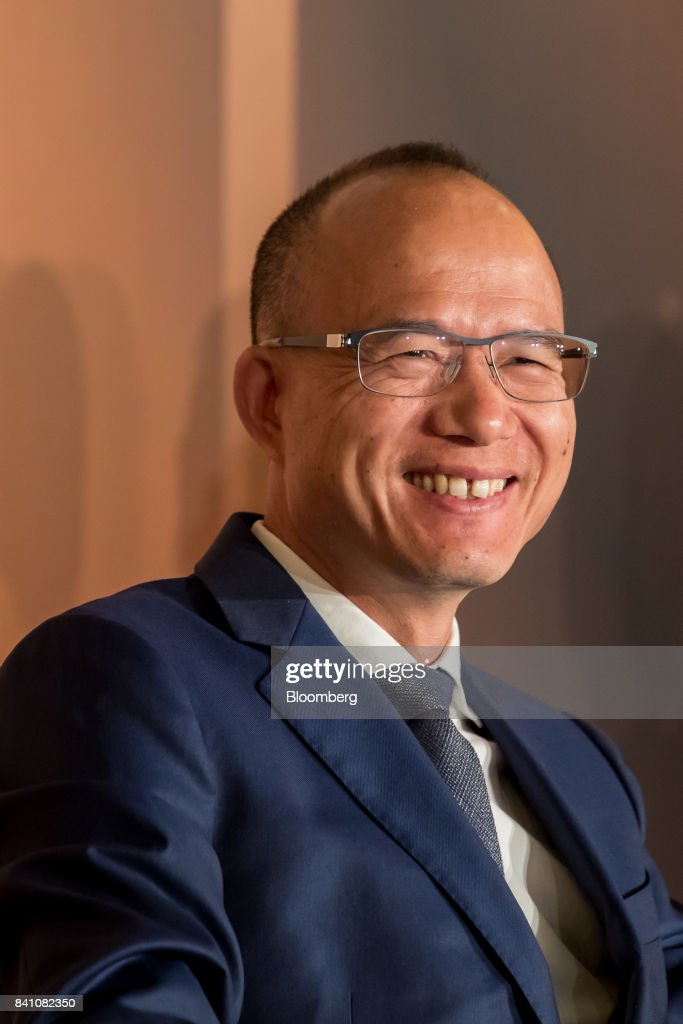 Billionaire Guo Guangchang, chairman and co-founder of Fosun International Ltd., speaks during a news conference in Hong Kong, China, on Thursday, Aug. 31, 2017. Fosun the listed flagship ofGuo's insurance-to-drugs conglomerate, reported first-half net income increased 34 percent amid higher returns from investments. Photographer: Paul Yeung/Bloomberg via Getty Images