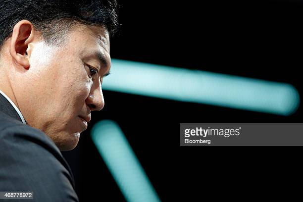 Billionaire Hiroshi Mikitani, chairman and chief executive officer of Rakuten Inc. And representative director of the Japan Association of New...
