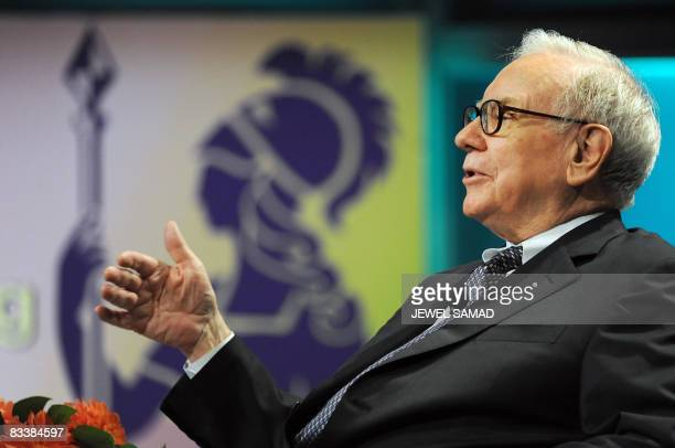 Billionaire investor Warren Buffett Chairman and CEO of Berkshire Hathaway Inc joins California Governor Arnold Schwarzenegger in a coversation...