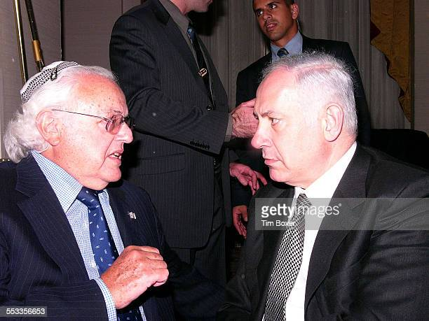 Billionaire junk bond trader and philanthopist Ira Rennert talks with former Israeli Prime Minister Benjamin Netanyahu at the Gateways anniversary...