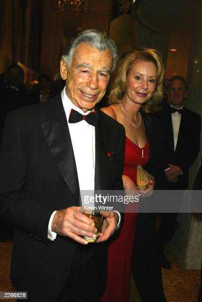 Billionaire Kirk Kerkorian and his date Una Davis at An Evening with Larry King and Friends to benefit The Larry King Cardiac Foundation at the...