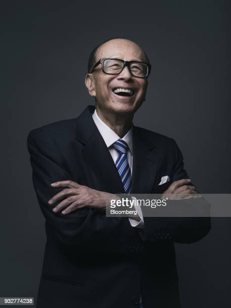 Billionaire Li Kashing chairman of CK Hutchison Holdings Ltd and Cheung Kong Property Holdings Ltd poses for a photograph in Hong Kong China on...
