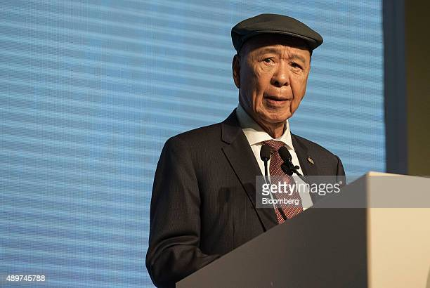 Billionaire Lui Che Woo chairman and founder of Galaxy Entertainment Group Ltd speaks at an event in Hong Kong China on Thursday Sept 24 2015 Lui...