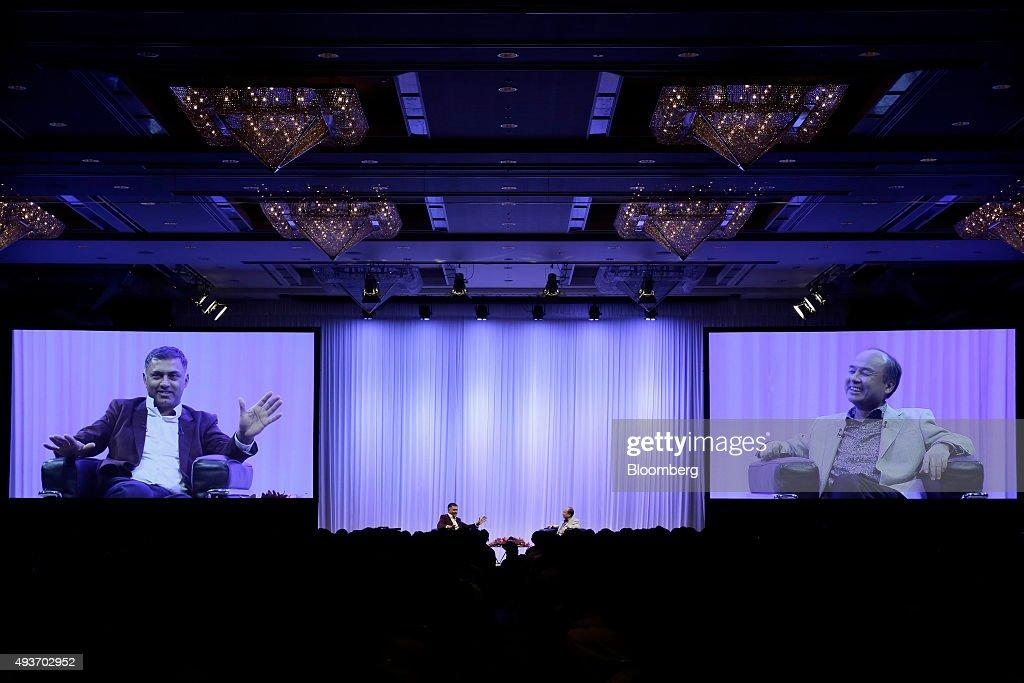 SoftBank Chairman Masayoshi Son And President Nikesh Arora Speak At SoftBank Academia Lecture