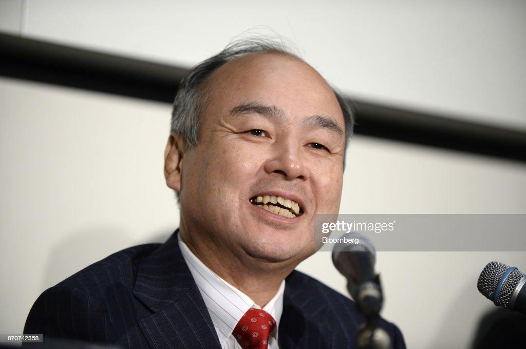 SoftBank Group CEO Masayoshi Son Presents Earnings Figures