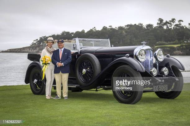 Billionaire Michael Kadoorie, chairman of Hong Kong And Shanghai Hotels Ltd., left, and his wife Betty Kadoorie stand for a photograph in front of...
