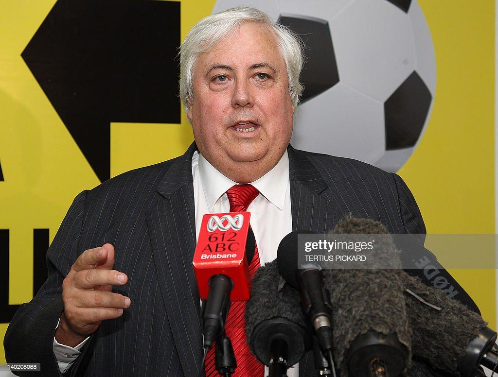 Billionaire mining magnate Clive Palmer : News Photo