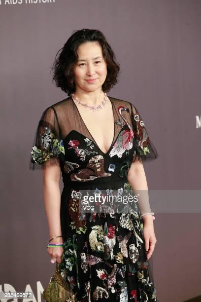 Billionaire Pansy Ho attends the amfAR Hong Kong Gala 2018 at Shaw Studios on March 26 2018 in Hong Kong Hong Kong