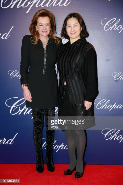Billionaire Pansy Ho Chiuking attends the opening ceremony of Chopard's store on January 12 2018 in Hong Kong China