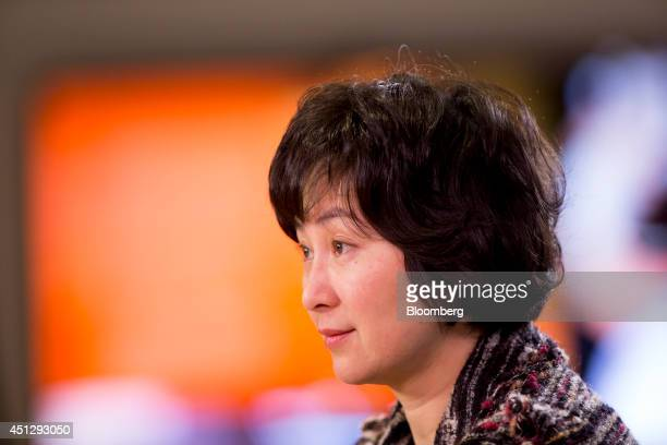 Billionaire Pansy Ho cochairman of MGM China Holdings Ltd sits for an interview in Hong Kong China on Friday March 28 2014 MGM China of which casino...