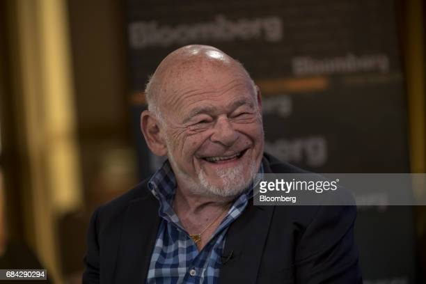 Billionaire Sam Zell founder and chairman of Equity Group Investments Inc smiles during a Bloomberg Television interview at the Skybridge...