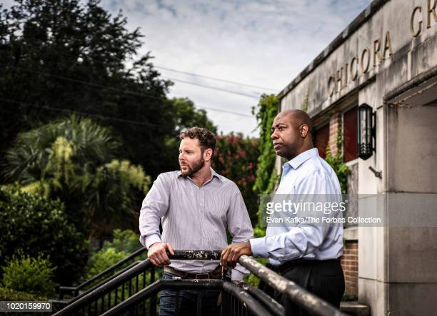 Billionaire Sean Parker and US senator Timothy Scott is photographed for Forbes Magazine on June 28 2018 in Charleston North Carolina PUBLISHED IMAGE...