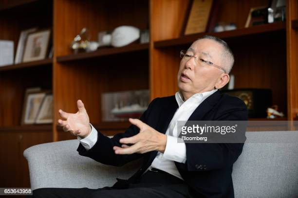 Fast Retailing Ceo Tadashi Yanai Interview Stock Photos ...