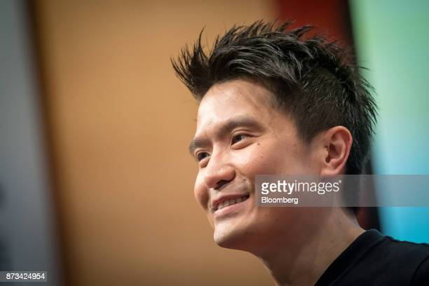 Billionaire Tan MinLiang chief executive officer and cofounder of Razer Inc attends the company's listing ceremony at the Hong Kong Stock Exchange in...