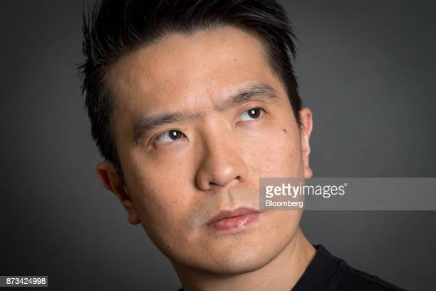 Billionaire Tan Min-Liang, chief executive officer and co-founder of Razer Inc., poses for a photograph before a Bloomberg Television interview in...