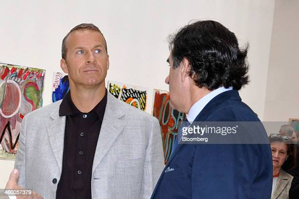 Billionaire Vladislav Doronin chairman of Captial Group left and Peter Brant chief executive officer of White Birch Paper Co and owner of Brant...