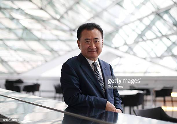 Billionaire Wang Jianlin, chairman and president of Dalian Wanda Group, poses for a portrait at the World Economic Forum Annual Meeting Of The New...