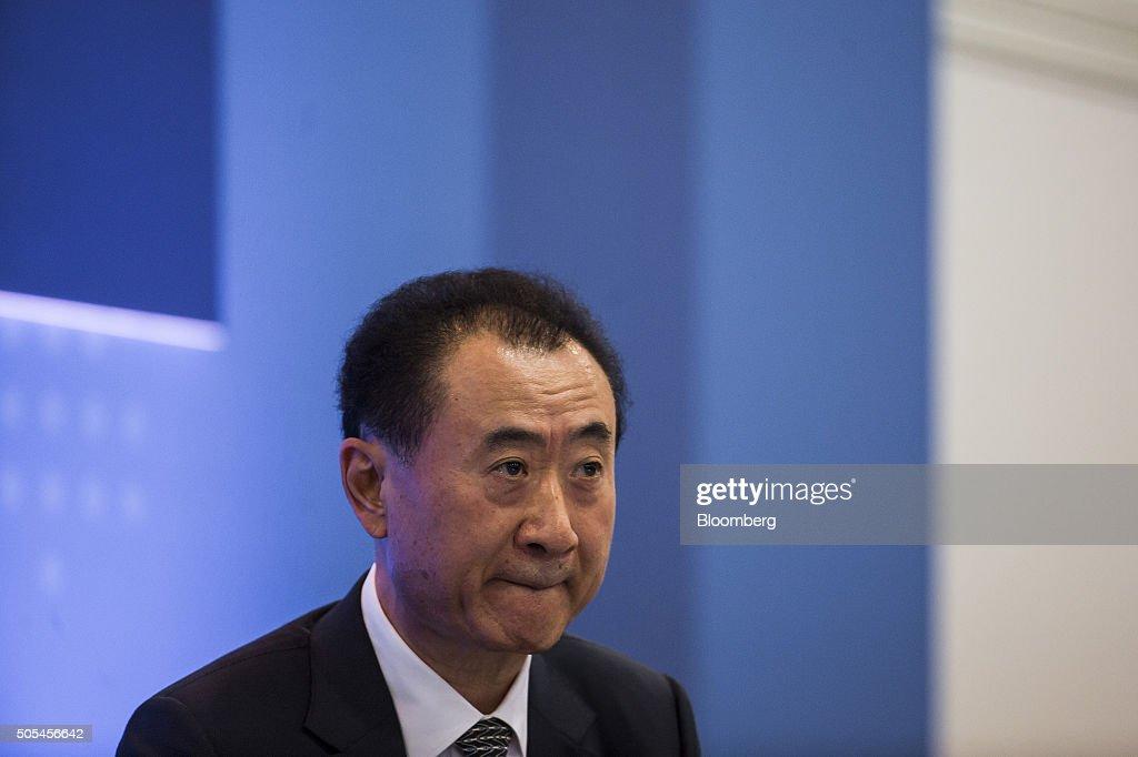 Billionaire Wang Jianlin, chairman and president of Dalian