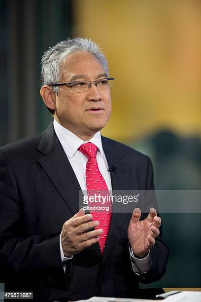 Billionaire William Fung chairman of Li Fung Ltd speaks during a Bloomberg Television interview in Hong Kong China on Friday March 21 2014 Li Fung...