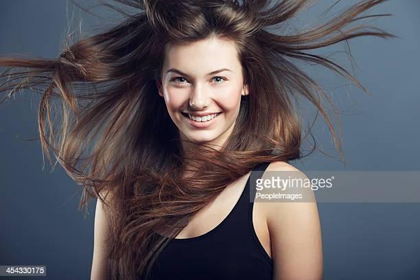 Billowing hair