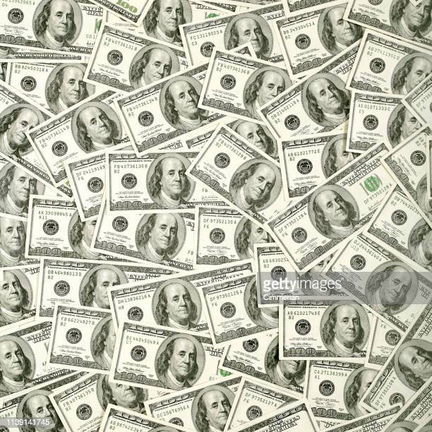 $100 bills background - american one hundred dollar bill stock pictures, royalty-free photos & images