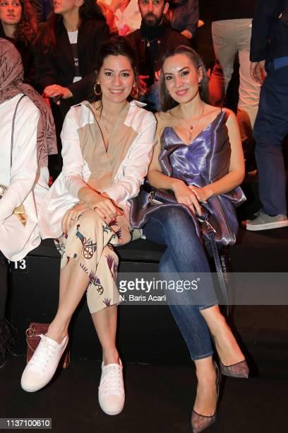Billur Saatci and Burcin Unaldi attend the MercedesBenz Fashion Week Istanbul March 2019 at Zorlu Center on March 20 2019 in Istanbul Turkey