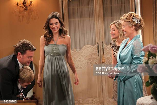 Billy Abbott surprises his wife Victoria Newman Abbott with her son Reed Hellstrom at the remarriage of her parents Nikki and Victor Newman on THE...