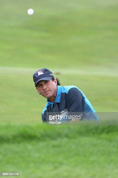 Billy Andrade chips to the seventh green during Round 3 of the Senior PGA Championship at Trump National Golf Club on May 27 2017 in Sterling Virginia