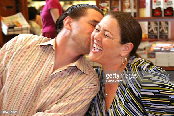 Billy Baldwin and Camryn Manheim during Tales From The Bed On Liviing Dying and Having It All Book Promotion at Barnes Noble at The Grove in Los...