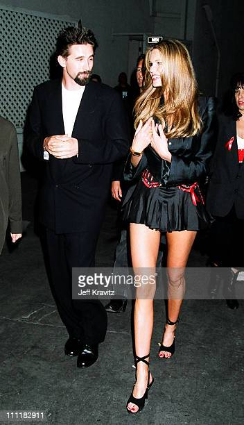 Billy Baldwin and Elle MacPherson during 1994 MTV Movie Awards at Sony Studios in Culver City California United States