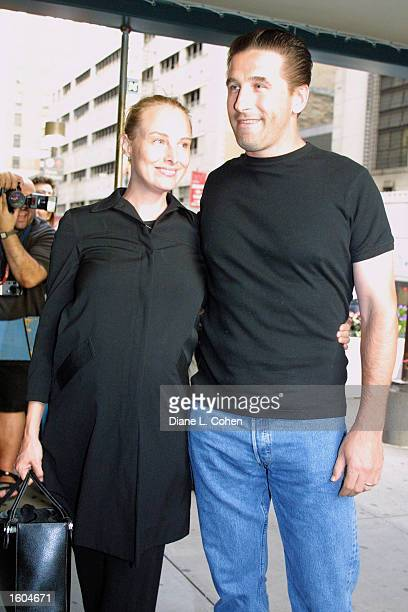 Billy Baldwin and his pregnant wife Chynna Phillips arrive at the Madonna concert at Madison Square Garden July 26 2001 in New York City