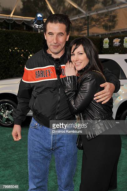 Billy Baldwin and Lori Levine arrive at Chevy Rocks The Future at the Buena Vista Lot at The Walt Disney Studios on February 19 2008 in Burbank...
