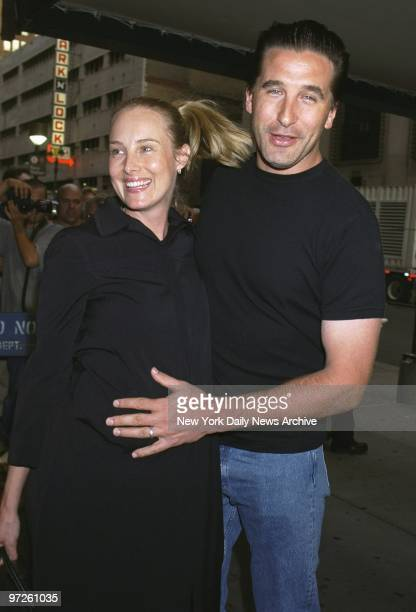Billy Baldwin and pregnant wife Chynna Phillips arrive at Madison Square Garden to see the second of Madonna's five Drowned World Tour concerts in...