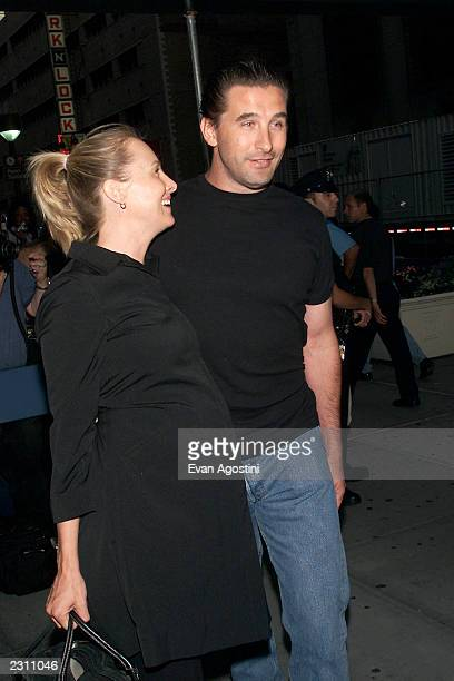 Billy Baldwin and pregnant wife Chynna Phillips arrives to see Madonna's 'Drowned World' concert at Madison Square Garden in New York City Photo Evan...