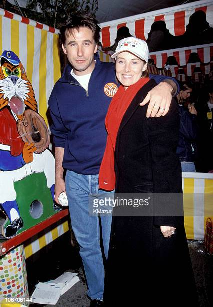Billy Baldwin and Tea Leoni during 1999 'Kids for Kids' Carnival Elizabeth Glasser Pediatric Aids Foundation Fundraiser at Industria Studio in New...
