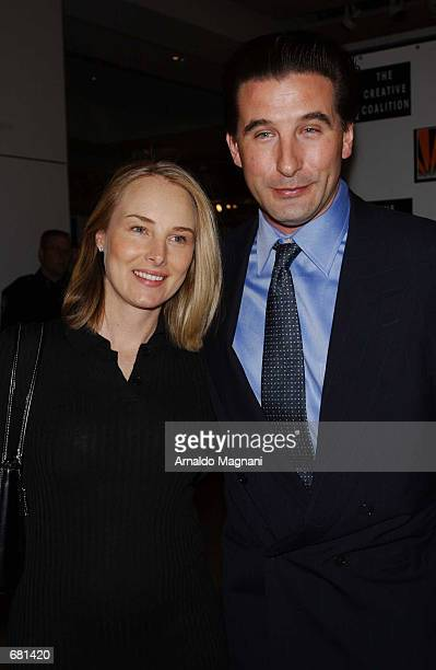 Billy Baldwin and wife China attend the Spotlight Awards Benefit Gala and Auction November 12 2001 at Sotheby's in New York