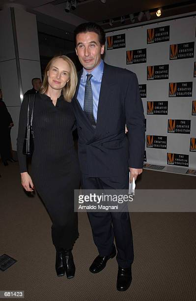 Billy Baldwin and wife Chynna Phillips attend the Spotlight Awards Benefit Gala and Auction November 12 2001 at Sotheby's in New York
