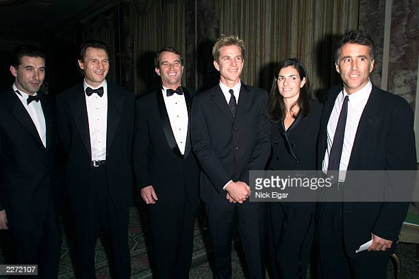 Billy Baldwin Liam Neeson Robert Kennedy Jr Matthew Modine Robert Kennedy Jnr's wife and Chris Lawford at the 10th Anniversary benefit for the...