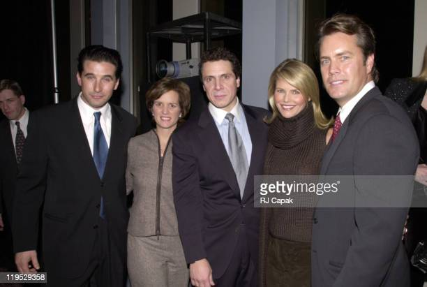 Billy Baldwin Secretary Andrew Cuomo wife Christie Brinkley and husband Peter Cook