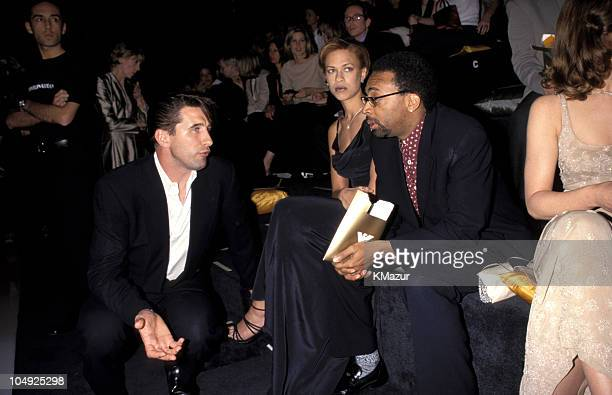 Billy Baldwin Spike Lee and wife during Emporio Armani Opening at Emporio Armani in New York City New York United States