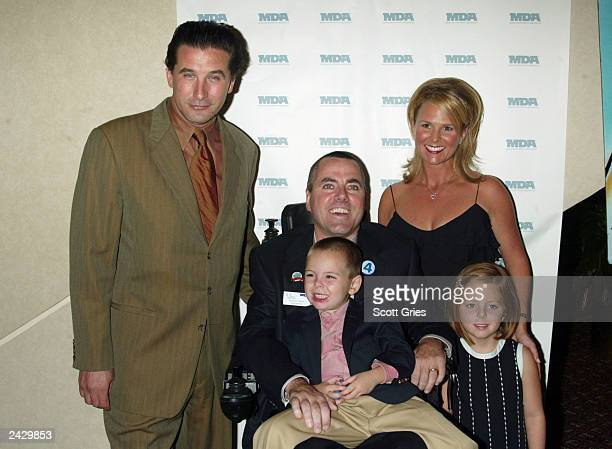 Billy Baldwin with Wings Chairman Michael Beier and his wife Thersa and children Dustin Carly at the 2nd annual Wings Over Wall Street gala to...