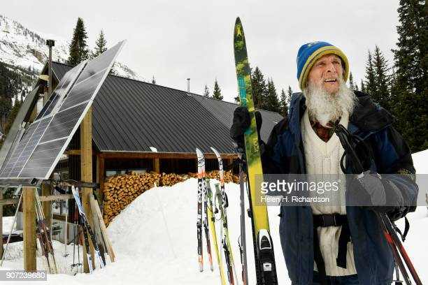 billy barr heads out to work from his remote cabin on January 9 2018 in Gothic Colorado barr who is a reclusive mountain man and who prefers having...